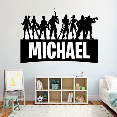 Gamer Personalised Name Fortnite Decal PS4 Xbox Wall Art Vinly Sticker • 9.84£