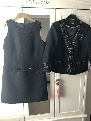 Next Ladies Lovely Shift Dress And Jacket Channel Style Size 14 • 20£