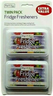 2 FRIDGE FRESHENER Deodoriser Kitchen Air Remove Smell Eliminate Odour RY1723 UK • 2.95£