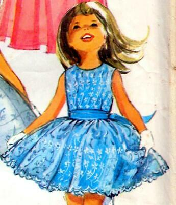 Vintage 60s GIRLS PARTY & BRIDESMAID DRESS Sewing Pattern Age 4 Chest 23  RETRO • 7.99£