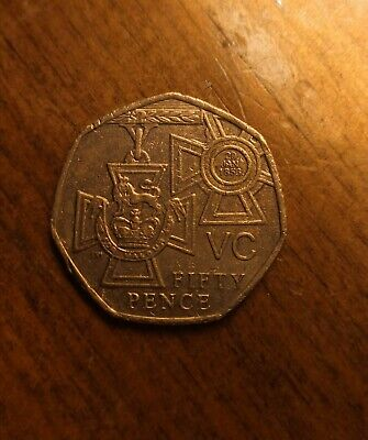 VERY RARE 2006 Victoria Cross For Valour 50p Coin VC Fifty Pence. • 200£