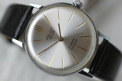 Vintage Men's Big Russian Mechanical Poljot De Luxe Watch 23 Jewels! • 78£