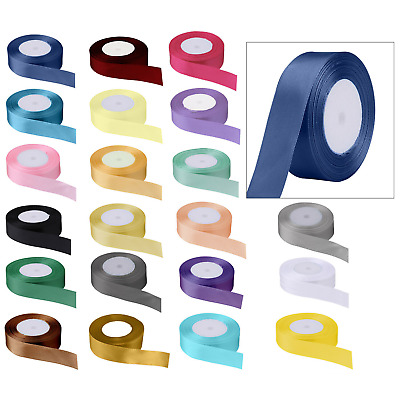 £2.69 • Buy 25 Metres DOUBLE SIDED Satin Ribbon Full Rolls 10mm 25mm 40mm Widths Gift Wrap