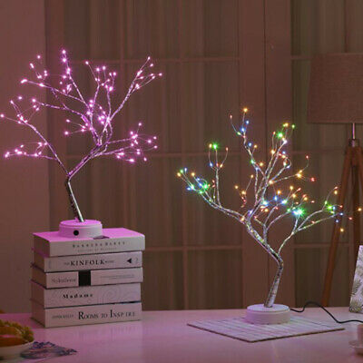 108LED Pearl Blossom Tree Bonsai Light Table Bedside Lamp Room Party Home Decor • 11.78£