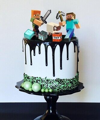 AU15 • Buy Set Of Minecraft Cake Toppers