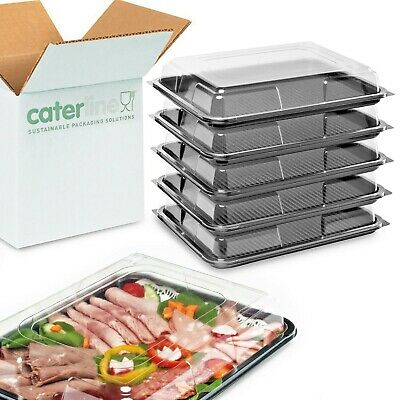 25 X Medium Buffet Platters & Lids(390 X 295 X 70mm) UK Made,100% Recyclable   • 19.99£