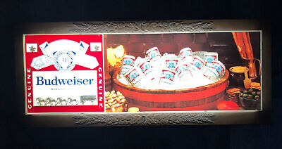 $ CDN358.44 • Buy Budweiser Vintage Plastic Light Up Sign Clydesdales Advertising Works Bud 33x14