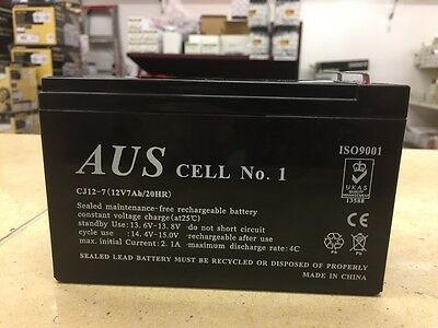 AU20.99 • Buy 1 X 12v 7AH Rechargeable Alarm Battery-Excellent Quality And Reliability.