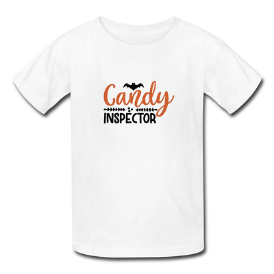 $18.99 • Buy Kids' Halloween 'Candy Inspector' Graphic T-Shirt S-Youth XL