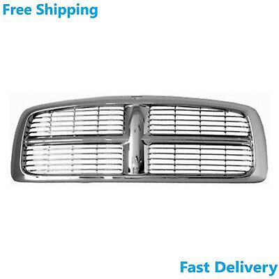 $95.77 • Buy New Front Grille Chrome Plastic Fits Dodge RAM 1500 2500 3500 2002-05 CH1200261