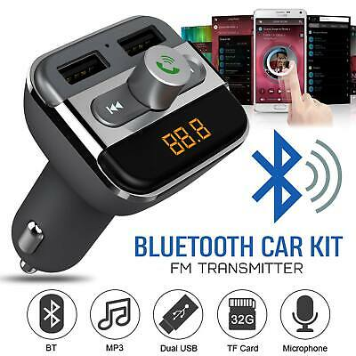 Bluetooth FM Transmitter Wireless Audio Adapter Handsfree Car Kit LED Display • 7.99£