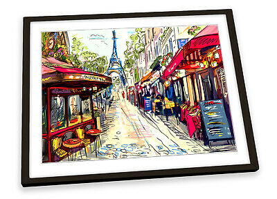 £15.99 • Buy Paris Coffee Cafes Street FRAMED ART PRINT Picture Poster Artwork