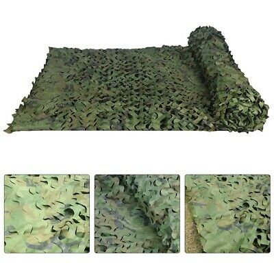 Army Camouflage Net Camo Netting Camping Shooting Hunting Hide Woodland W/ Bag • 16.67£
