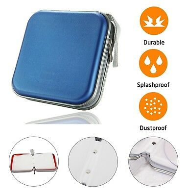 CD DVD Carry Case Disc Storage Holder CD Sleeve Wallet Ideal For In Car BLUE • 3.80£