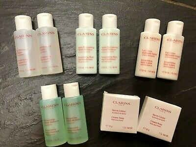 £24.99 • Buy Clarins Shampoo Conditioner Shower Gel Body Lotion Gingseng Hand Soap X2
