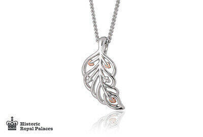 New Welsh Clogau Silver & Rose Gold Debutante Feather Pendant (18 ) £40 OFF! • 69£