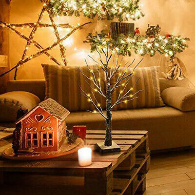 LED Tree Table Lamp Modern Battery Operated 60cm Decorative Novelty Xmas Light • 12.89£
