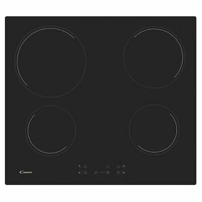 Candy CC64CH Ceramic Hob 4 Cooking Zones Touch Control 59cm Black • 159.99£