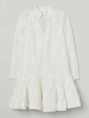 H&M White Jacquard Weave Dress Size Small SOLD OUT • 35£