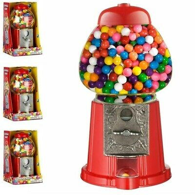 Retro Gumball Dispenser Machine Toy With 90g Bubble Gum Bag Coin Operated Bank • 10.95£