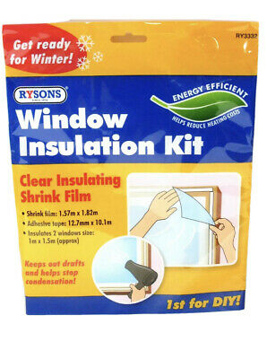 £2.99 • Buy ?window Insulation Fit Double Glazing Shrink Film Draught Excluder Condensation