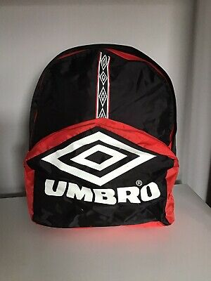 Retro Rare  Umbro Red And Black Backpack Rucksack Bag Hold-all • 10.80£