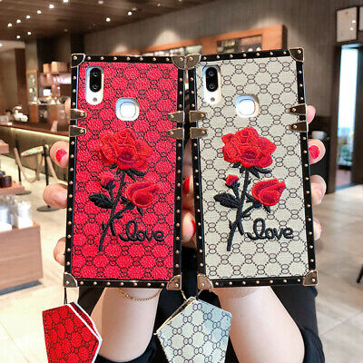$ CDN7.90 • Buy Embroidery Love Rose Long Rope Luxury Fashion Women Shockproof Soft Case Cover