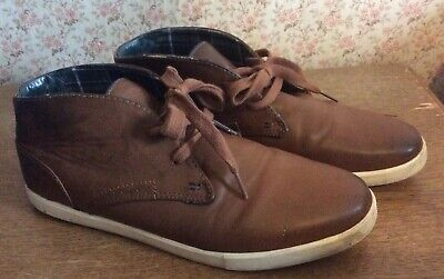 RED HERRING Debenhams Brown Leather Lace-Up Ankle Boots Shoes UK Size 8  • 5.99£