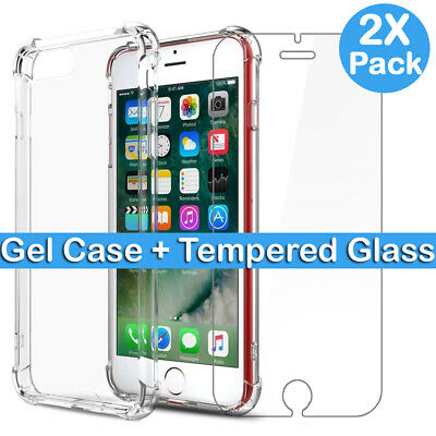 For IPhone 7 6 6s 8 Plus SE 2 2020 Genuine Tempered Glass Screen Protector • 1.99£