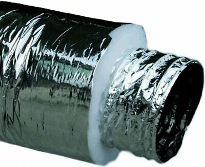 "AU39.86 • Buy 6""inch 150mm Flexible ACOUSTIC DUCTING Hydroponics Insulated Duct Aluminium"