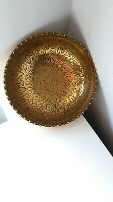 Small Brass Etched Indian Bowl • 10£