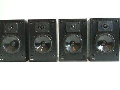 JPW MINI MONITOR SPEAKERS STEREO HOME CINEMA 2-WAY BLACK 1or2 PAIR WITH DISCOUNT • 39.50£