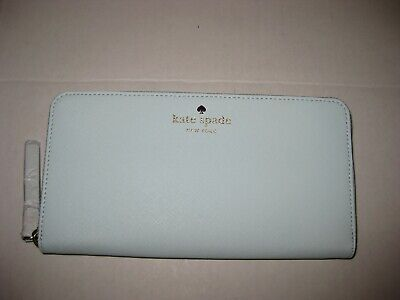 $ CDN59.89 • Buy Kate Spade Lacey Mikas Pond Zip Around Leather Wallet Clutch Islandwaters - Mint