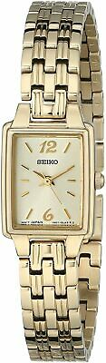 $ CDN120.53 • Buy Seiko SXGL62 Yellow Gold Tone Rectangular Case Classic Womens Dress Watch