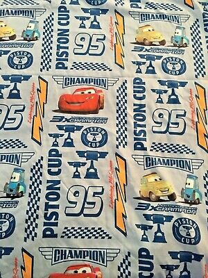 Vintage Disney Pixar Cars  Piston Cup 95  Twin Flat And Fitted Sheet Set • 14.62£