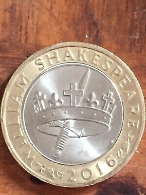 Wiliam Shakespear 2016 Sword And Crown, Jester £2  Two Pound Coin Rare • 1,744£