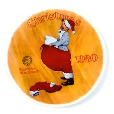 $ CDN30.95 • Buy Norman Rockwell 1980 Limited Edition Scotty Plays Santa Christmas Plate
