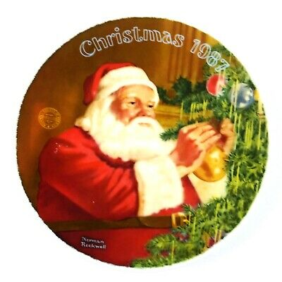 $ CDN30.95 • Buy Norman Rockwell 1987 Limited Edition Santa's Golden Gift Graphic Christmas Plate