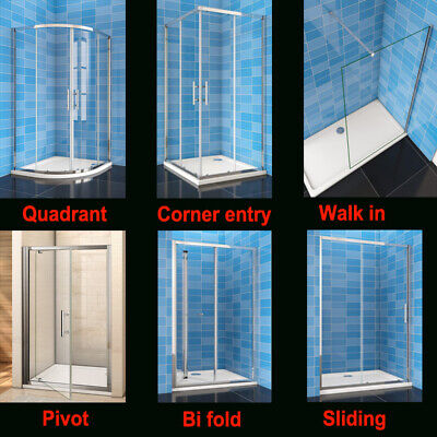 Shower Enclosure Glass Doors Sliding Quadrant Walk In Bi Fold Pivot Corner Entry • 79.83£
