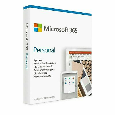 AU108 • Buy Microsoft Office 365 Personal 1 PC/Mac/Android/iOS 1 Year Word Excel PowerPoint