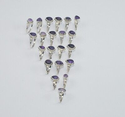 AU88.95 • Buy WHOLESALE 21PC 925 SOLID STERLING SILVER PURPLE AMETHYST RING LOT GTC310 O L486