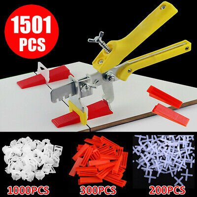 1501pc Tile Leveling Spacer System Tool Clips&Wedges Flooring Lippage Plier ^o • 27.99£