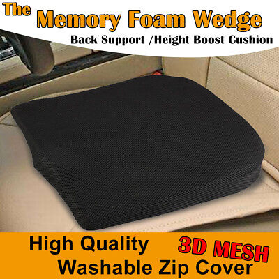 £12.99 • Buy CAR MEMORY FOAM Seat Chair Lumbar Support Booster Cushion Back Pain Height