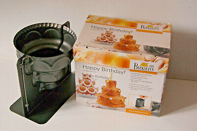 'Tiered Cake' Mould. Celebration. Non-stick Metal. Made By Birkmann. NEW In Box • 9£