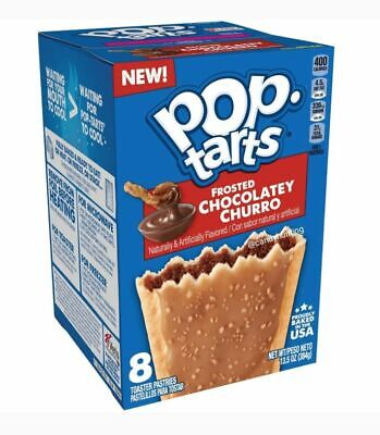 Pop Tarts Frosted Chocolatey Churro X 2 - American Import - Box Of 8 • 12.50£