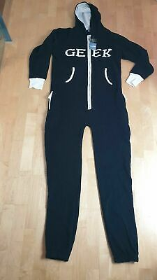 Geek All In One Piece Jump Suit Hood Onezee Loungewear Pyjamas Unisex • 19.95£