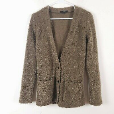 $24.28 • Buy MILLAU LF Cardigan Sweater Green Women's Elbow Patches Pockets Soft Size S
