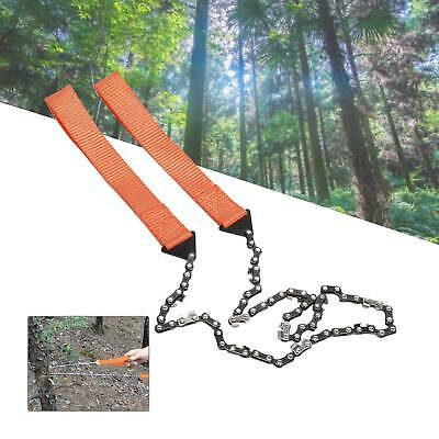 Hand ChainSaw Camping Portable Pocket Gear Chain Saw Cutting Firewood New Tool • 7.99£