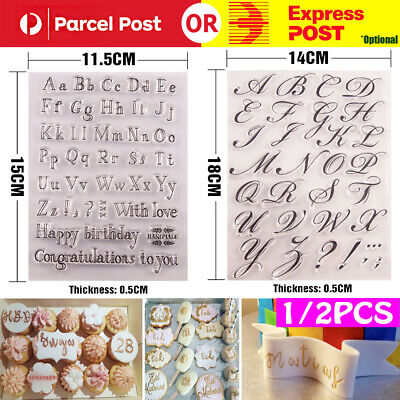 AU5.99 • Buy 1/2Fondant Cake Alphabet Letter Cookies Biscuit Stamp Embosser Mold Cutter Decor
