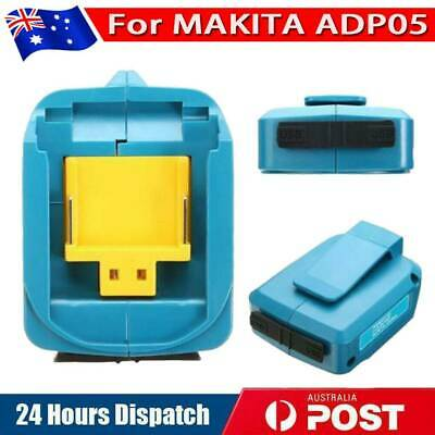 AU24.99 • Buy Dual USB Port Phone Charger Battery Adapter For Makita 18 14.4V BL1830/1430ADP05